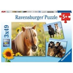 RAVENSBURGER LOVING HORSES 3X49 PALAA